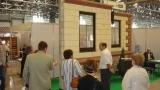 Кладка стены из блоков Теплостен на выставке