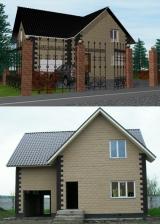 Дома, построенные из блоков Теплостен